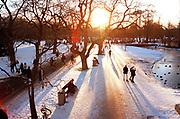 Het Vondelpark in Amsterdam, winter