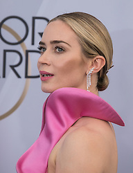 January 27, 2019 - Los Angeles, California, U.S - Emily Blunt at the red carpet of the 25th Annual Screen Actors Guild Awards held at  the Shrine Auditorium in Los Angeles, California, Sunday January 27, 2019. JAVIER  ROJAS/PI (Credit Image: © Prensa Internacional via ZUMA Wire)