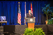 Gov. John Bel Edwards speaking at a memorial for law enforment officers slayed in Baton Rouge by a lone gunman following the killing of Alton Sterling.