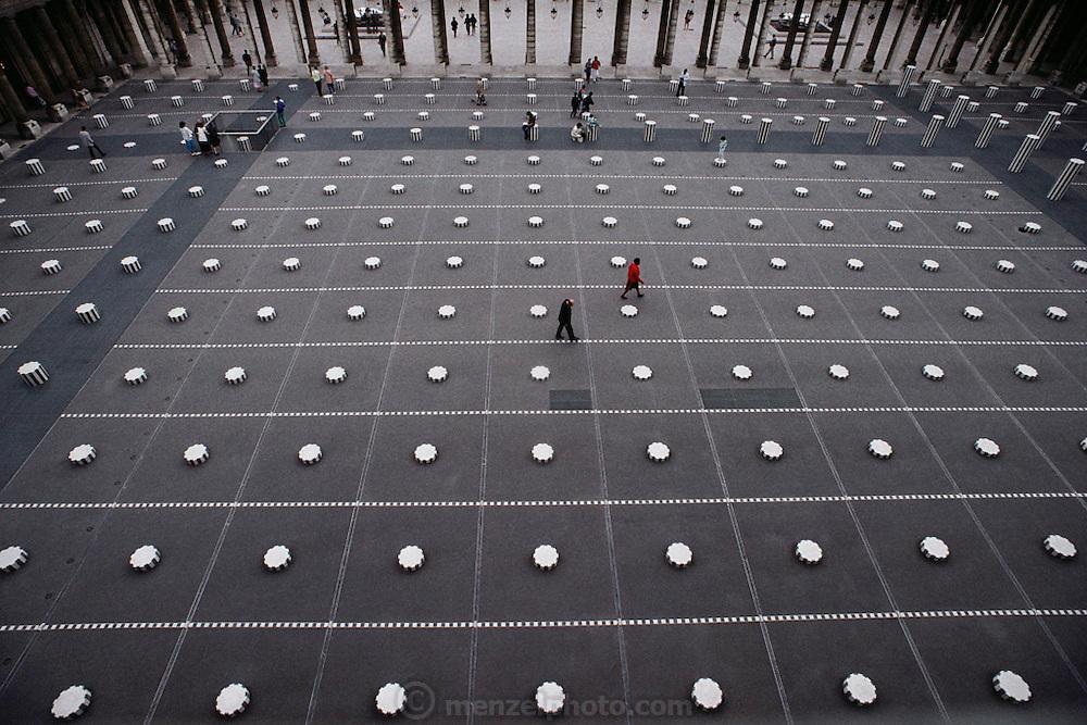 Palais Royal courtyard, Paris, France.