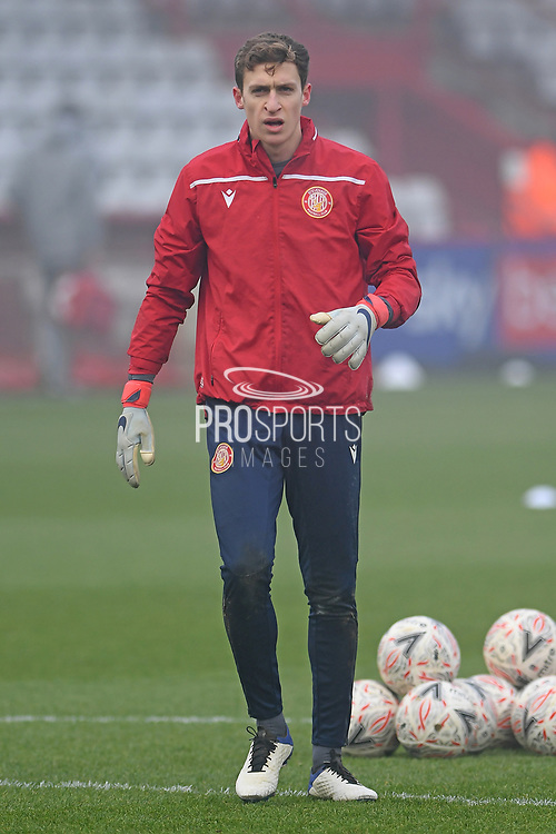 portrait Stevenage goalkeeper Jamie Cumming(1) during the FA Cup match between Stevenage and Swansea City at the Lamex Stadium, Stevenage, England on 9 January 2021.