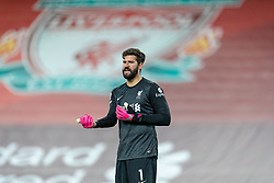 LIVERPOOL, ENGLAND - Wednesday, December 16, 2020: Liverpool's goalkeeper Alisson Becker during the FA Premier League match between Liverpool FC and Tottenham Hotspur FC at Anfield. Liverpool won 2-1. (Pic by David Rawcliffe/Propaganda)
