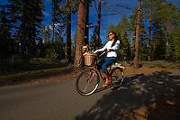 Bicyclists ride their bikes on the Pope-Baldwin Bike Path near South Lake Tahoe Ca., Tuesday May 18, 2010..Photo Brian Baer