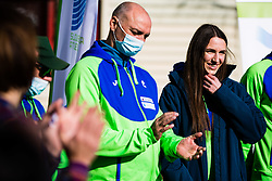 Lia Apostolovski during reception and press conference on return of Slovenian Athletic National team from European Championships in Torun (POL), on March 8, 2021 in  Ljubljana, Slovenia.  Photo by Grega Valancic / Sportida