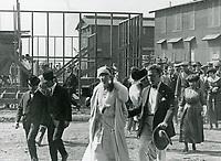 1919 Queen Elizabeth of Belgium at Thomas Ince Studios in Culver City