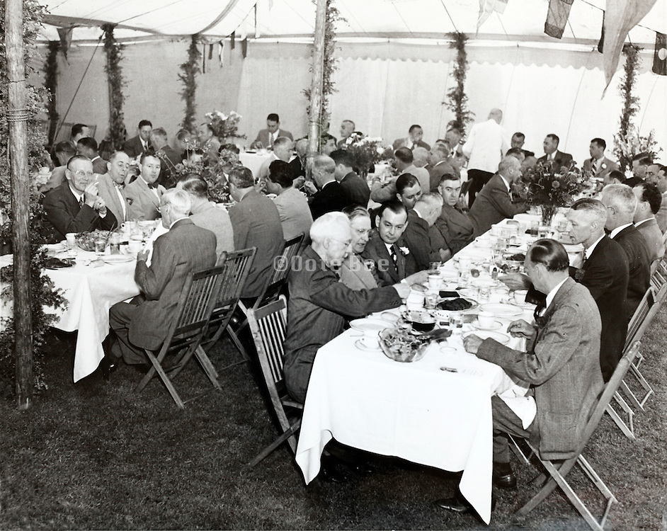 corporate party 1940s USA