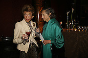 Signora Urquijo and the Duchess of Wellington. Velasquez private view, Sainsbury Wing, National Gallery,16 October 2006. DO NOT ARCHIVE-© Copyright Photograph by Dafydd Jones 66 Stockwell Park Rd. London SW9 0DA Tel 020 7733 0108 www.dafjones.com