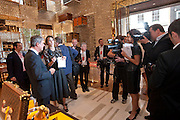YVES CARCELLE; ALEXA CHUNG, Louis Vuitton openingof New Bond Street Maison. London. 25 May 2010. -DO NOT ARCHIVE-© Copyright Photograph by Dafydd Jones. 248 Clapham Rd. London SW9 0PZ. Tel 0207 820 0771. www.dafjones.com.