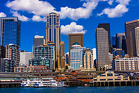 Downtown Seattle waterfront, Washington State USA.