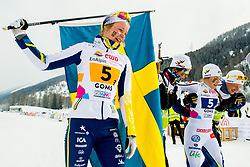 February 3, 2018 - Goms, SWITZERLAND - 180203 Alicia Persson and Johanna HagstrÅ¡m of Sweden after the women's 4x3,3 km relay during the FIS Nordic Junior World Ski Championships on February 3, 2018 in Obergoms..Photo: Vegard Wivestad GrÂ¿tt / BILDBYRN / kod VG / 170098 (Credit Image: © Vegard Wivestad Gr¯Tt/Bildbyran via ZUMA Press)
