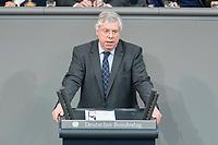 21 MAR 2019, BERLIN/GERMANY:<br /> Juergen Hardt, MdB, CDU, haelt eine Rede, BUndestagsdebatte zur Regierungserklaerung der Bundeskanzlerin zum Europaeischen Rat, Plenum, Deutscher Bundestag<br /> IMAGE: 20190321-01-130