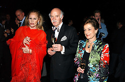 Left to right, Actress URSULA ANDRESS, chef ANTON MOSIMANN and MRS MOSIMANN at a reception and buffet-dinner hosted by H.E.Alexis P.Lautenberg, Ambassador of Switzerland to celebrate British-Swiss friendship and the forthcoming 'UN International Year of Sport and Physical Education 2005' at 40 St.Mary Axe (The Gherkin) London EC3 on 13th December 2004.<br /><br />NON EXCLUSIVE - WORLD RIGHTS