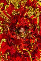 Carnaval parade of the Acadeicos do Salgueiro samba school in the Sambadrome, Rio de Janeiro, Brazil.