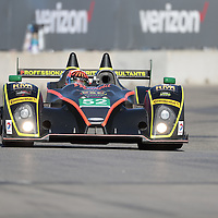 Detroit, MI - Jun 03, 2016:  The PR1 Mathiasen Motorsport ORECA FLM09 Chevrolet races through the turns at the Detroit Grand Prix at Belle Isle Park in Detroit, MI.