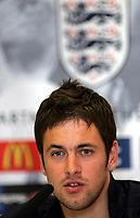 Photo: Paul Thomas.<br /> England Press Conference. 01/06/2006.<br /> <br /> Joe Cole.