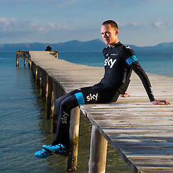 Chris Froome at the Sky team's winter training camp in Alcudia Mallorca