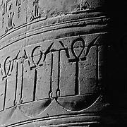 Column hieroglyphics detail at Edfu temple, Edfu, Egypt (January 2008)
