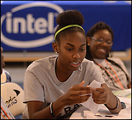 Students participate in the Intel Technology & Coding Workshop during 2015 Youth Leadership Summit on Friday, July 31, 2015, at Nova Southeastern University.  Over 500 students are participating in the Summit. Photo by Johnny Crawford