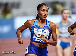 2019 IAAF World Athletics Championships held in Doha, Qatar from September 27- October 6<br /> Day 2<br /> USA womens 800 semi-final