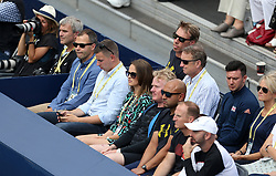 Kim Murray (centre) during day two of the Fever-Tree Championship at the Queens Club, London.