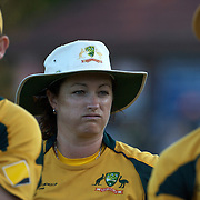 Australian captain Karen Rolton after Australia's loss during the ICC Women's World Cup Cricket play off for third place between Australia and India at Bankstown Oval, Sydney, Australia on March 21, 2009. India beat Australia by three wickets. Photo Tim Clayton