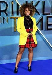 Fleur East attending the A Wrinkle in Time European Premiere held at the BFI IMAX in Waterloo, London. Photo credit should read: Doug Peters/EMPICS Entertainment