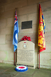 At the entrance to the west tower on the dam wall is this small memorial to the men of 617 Squadron in the West tower is small Museum. Known locally as the Dam Busters Museum it opens Sundays and Bank Holiday<br /> 16 January 2010<br /> Images © Paul David Drabble