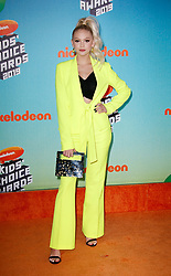 March 23, 2019 - Los Angeles, CA, USA - LOS ANGELES, CA - MARCH 23: Jordyn Jones attends Nickelodeon's 2019 Kids' Choice Awards at Galen Center on March 23, 2019 in Los Angeles, California. Photo: CraSH for imageSPACE (Credit Image: © Imagespace via ZUMA Wire)