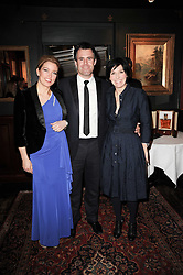 Left to right, AMANDA HAMILTON, KENNY LOGAN and SHARLEEN SPITERI at the Johnnie Walker Blue Label great Scot Award 2010 in association with The Spectator and Boisdale held at Boisdale of Belgravia, 22 Ecclestone Street, London SW1 on 24th February 2010.