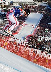 22.01.2011, Hahnenkamm, Kitzbuehel, AUT, FIS World Cup Ski Alpin, Men, Downhill, im Bild // Mario Scheiber (AUT) // during the men downhill race at the FIS Alpine skiing World cup in Kitzbuehel, EXPA Pictures © 2011, PhotoCredit: EXPA/ S. Zangrando