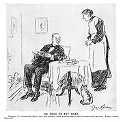 """An Echo of Rat Week. Professor. """"I understand, Mary, that the present week is dedicated to the extermination of rats. Kindly inform the cat."""""""