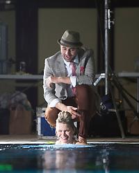 Scottish music star Darius Campbell & actress wife Natasha Henstridge take part in under water photo shoot at the Edinburgh Royal Commonwealth Pool to commemorate World Water Day 2013..©Michael Schofield..