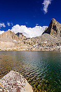 Building clouds over the Palisades from Dusy Basin, Kings Canyon National Park, California