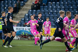 Ayr United's Craig Moore scoring their goal. Falkirk 0 v 1 Ayr United, Scottish Championship game played 3/11/2018 at The Falkirk Stadium.