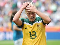 Fotball<br /> VM kvinner 2011 Tyskland<br /> 29.06.2011<br /> Brasil v Australia 1:0<br /> Foto: Witters/Digitalsport<br /> NORWAY ONLY<br /> <br /> Tameka Butt (Australien)<br /> Frauenfussball WM 2011 in Deutschland, Brasilien - Australien 1:0