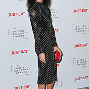 Vick Hope attends the British Takeaway Awards, in association with Just Eat at London's Savoy Hotel on 12 November 2018, London, UK.