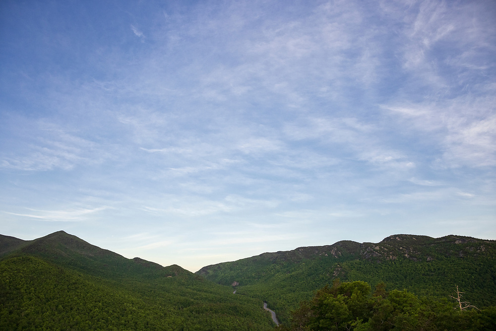 Early morning view of Cascade Mountain from Owl's Head in Keene New York