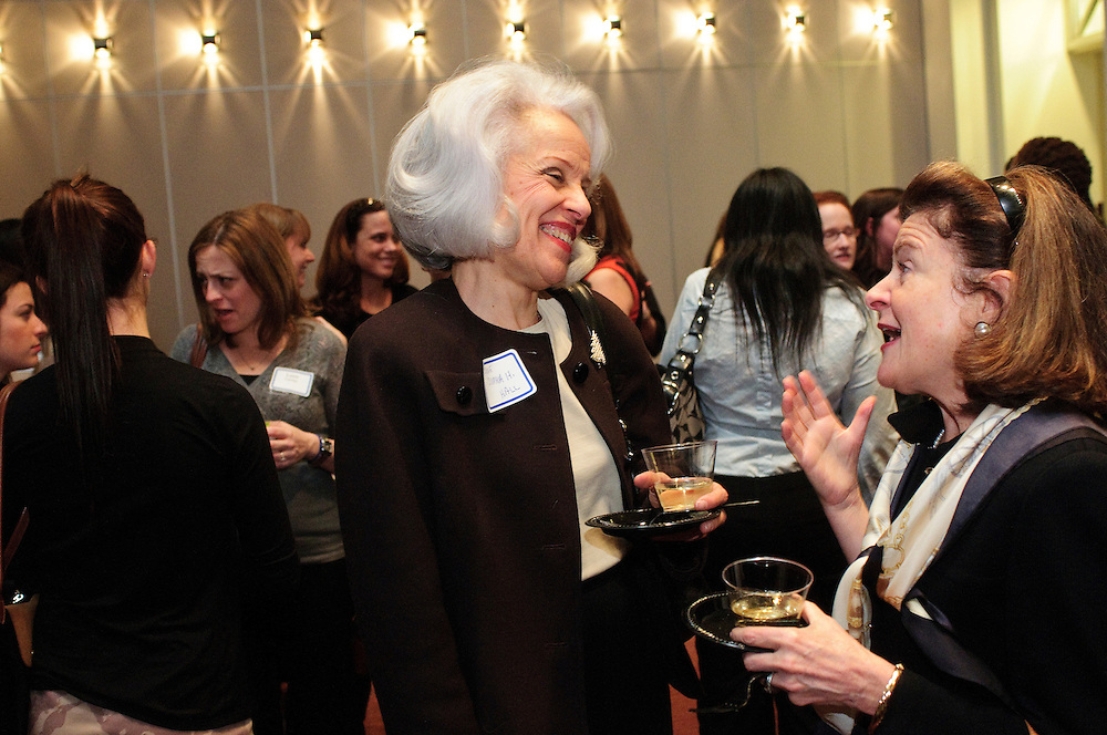 Administrative Presiding Judge Sophia H. Hall of the Cook County Circuit Court Juvenile and Child Protective Resource Section mingles with Cook County Circuit Court Municipal Department Traffic Section Judge Susan Kennedy Sullivan during The Chicago Bar Association (CBA) Holiday Party on Thursday, December 6th. The event is hosted by CBA's Alliance for Women, Black Women Lawyers' Association, Coalition of WomenÕs Initiatives in Law, WomenÕs Bar Association of Illinois and the YLS Women in the Law Committee  © 2012 Brian J. Morowczynski ViaPhotos