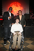 l to r: Josh X, Musa, and Hal Jackson at The Josh X showcase sponsored by MusaEntertainment and held at SOB's on August 27, 2009 in New York City