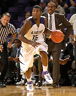 Kansas State forward David Hoskins (15) drives the ball up court in the second half against Cleveland State at Bramlage Coliseum in Manhattan, Kansas, December 5, 2006.  K-State beat the Vikings 93-60.<br />