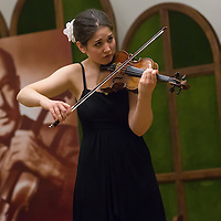 Agnes Langer of Hungary plays her violin during the Jozsef Szigeti International Violin Contest held every five year in Budapest, Hungary on September 06, 2012. ATTILA VOLGYI