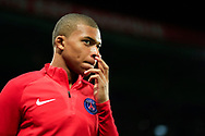 Paris Saint Germain's French forward Kylian Mbappe enters the pitch during the UEFA Champions League, Group B football match between Paris Saint-Germain and Bayern Munich on September 27, 2017 at the Parc des Princes stadium in Paris, France - Photo Benjamin Cremel / ProSportsImages / DPPI