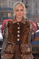 Chiara Ferragni arriving at the Schiaparelli Haute Couture Spring/Summer 2019-2020 show as part of Paris Fashion Week on January 21, 2019 in Paris, France. Photo by Julien Reynaud/APS-Medias/ABACAPRESS.COM
