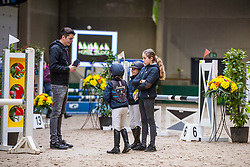 Dieu Marthe-Louize, BEL, Hoste Chloé, BEL<br /> Nationaal Indoor Kampioenschap Pony's LRV <br /> Oud Heverlee 2019<br /> © Hippo Foto - Dirk Caremans<br /> 09/03/2019