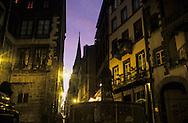 France. massif central. Clermont Ferrand. The Place Terail /The cathedral , the old city  France  /   la place du terrail et la cathedrale dans  la vieille ville   Clermont Ferrand  France   6