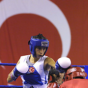 2. WOMEN'S WORLD BOXING CHAMPIONSHIPS.<br /> Turkey's Derya Aktop (L) . Dilek Sabanci Sport Hall Antalya/Turkey<br /> Photo by Aykut AKICI/TurkSporFoto
