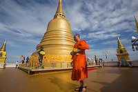 """Chedi at Wat Saket - Wat Saket dates back to the Ayutthaya era when it was called Wat Sakae. It is usually referred to as just Wat Saket and is positioned on Golden Mountain and therefore often called """"Temple of the Golden Mount"""".  It has become one of the icons of Bangkok."""