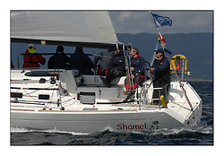 Sailing - The 2007 Bell Lawrie Scottish Series hosted by the Clyde Cruising Club, Tarbert, Loch Fyne..Brilliant first days conditions for racing across the three fleets...Class 3 GBR3407C Shamel.