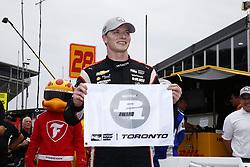 July 14, 2018 - Toronto, Ontario, Canada - JOSEF NEWGARDEN (1) of the United States wins the pole award for the Honda Indy Toronto at Streets of Toronto in Toronto, Ontario. (Credit Image: © Justin R. Noe Asp Inc/ASP via ZUMA Wire)