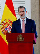 011821 King Felipe VI attends Meeting with the Executive Council of the World Tourism Organization